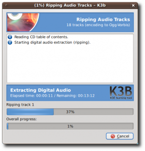 Linux Ripping Audio Tracks - K3b - MP3 - OGG Encoding