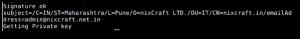 Fig.04: Generating The Actual Self Singed SSL Certificate