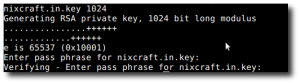 Fig.01: OpenSSL - Create a Private Key