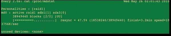 Fig.01: RAID 1 mirroring