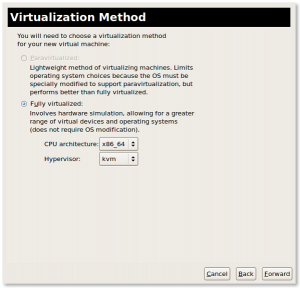 Fig.04: Define virtualization method (full virtualization due to Intel VT)