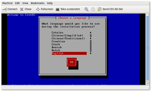 KVM virt-manager: Install CentOS As Guest Operating System