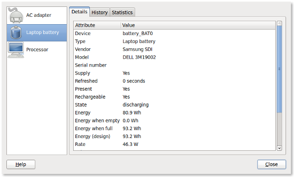 Fig.01: Linux Battery Monitor / Stats GUI App