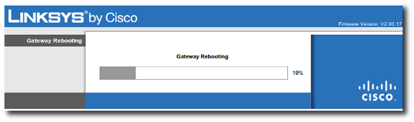Fig.01: Rebooting Cisco Linksys Router / Gateway