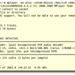 Mplayer: Play Audio CD Using Linux Command Line