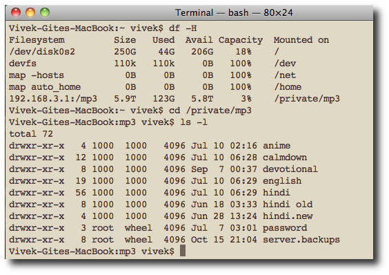 Linux: Find Out How Much Disk Space Left On Hard Drive