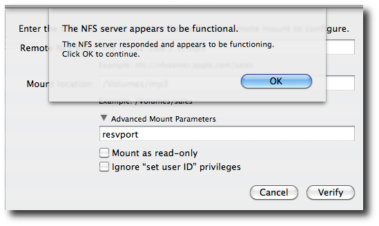 Mac Os X: Mount NFS Share / Set an NFS Client