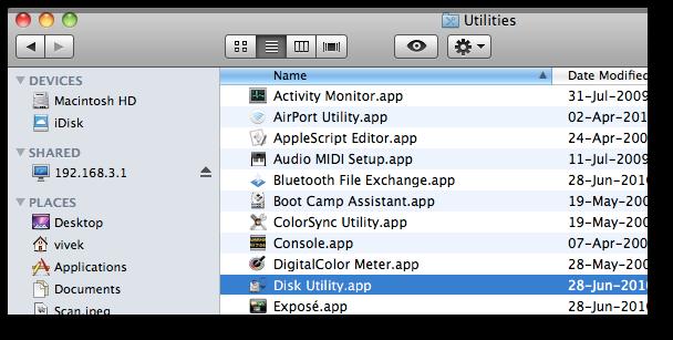 Fig.04: Starting Disk Utility