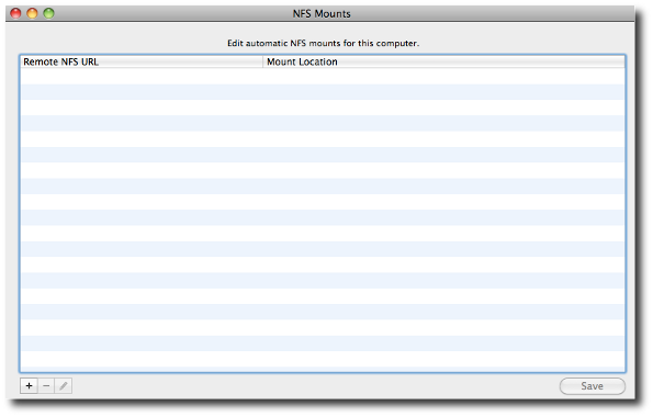 Fig.07: OS X NFS Mounts to set it as an NFS Client