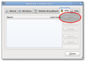 Gnome Network Manager Cisco PPTP VPN Connections