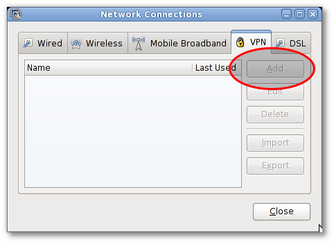 Gnome Network Manager VPN Tab Disabled  ( Greyed out )