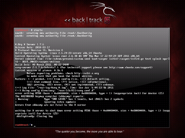 BackTrack Linux 5 64bits Vmware Workstation Installation