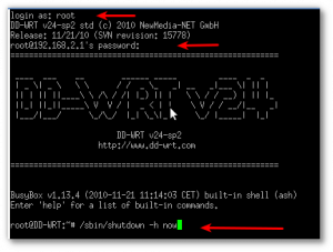 Fig.02: PuTTY running a session on Windows, logged into Linux system