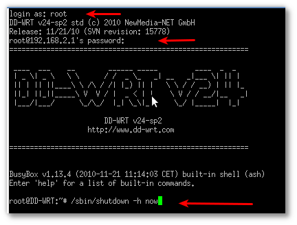 PuTTY running a session on Windows, logged into Linux system