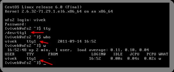 Linux / UNIX / BSD / Apple OSX: What tty I'm using?