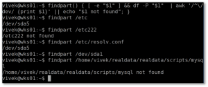 Linux df Command To Find Out On What Partition a File (Directory) Exits?
