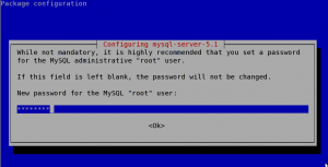 Debian Linux Mysql 5.1 Install and Admin Root User Password Setup