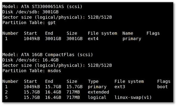 HowTo: Linux List Disk Partitions Command
