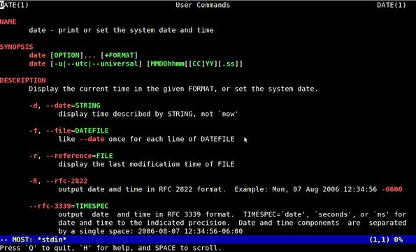 Unix / Linux: View Colour Man Pages