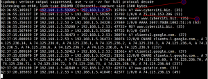 Fig.05: Tcpdump in action - monitoring udp port # 53 traffic