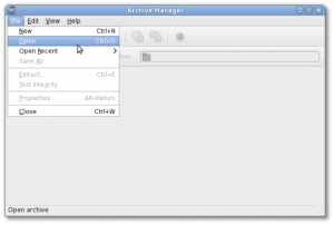 Fig.02: Linux: Open Files With an Archive Manager