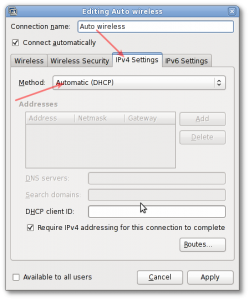 Fig.01: DHCP settings
