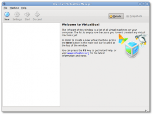 Fig.01:  Oracle VM VirtualBox in action
