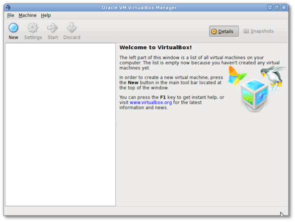 Debian Linux apt-get install Oracle VM VirtualBox Manager