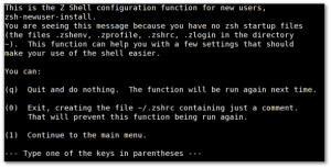 Fig.01: Configure zsh under FreeBSD