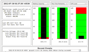 Fig.06: Apc ups battery status and run time info