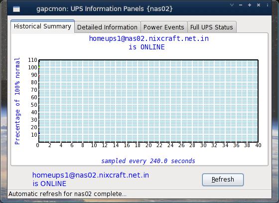 Fig.01: gapcmon: Information Panels