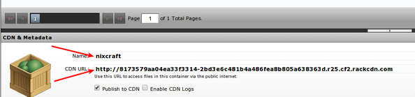 Rackspace Cloud Files Akamai CDN URL