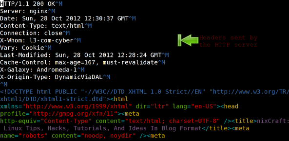 Unix / Linux: Wget Save The Http Headers Command