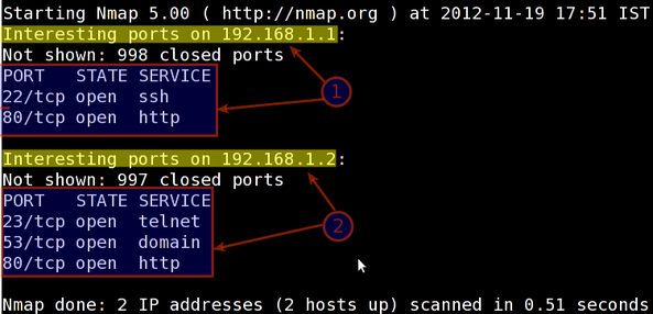 Fig.02: nmap scan for multiple hosts