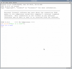 Fig.01: Python shell IDLE Screenshot