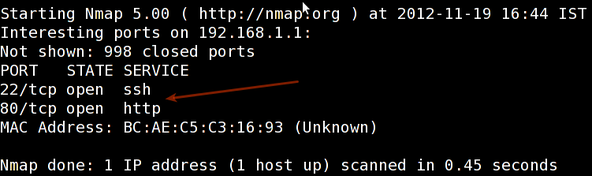 Fig.01: Sample nmap output