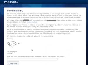 Fig.01: Pandora blocked