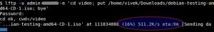 Fig.03: lftp upload speed test in action