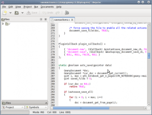 Fig.01: Gnome GTK+ Anjuta DevStudio IDE In Action