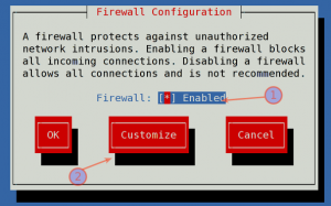 Fig.02: system-config-firewall-tui in action