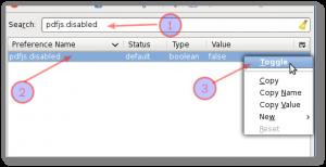 Fig.04: Set pdfjs.disabled to true