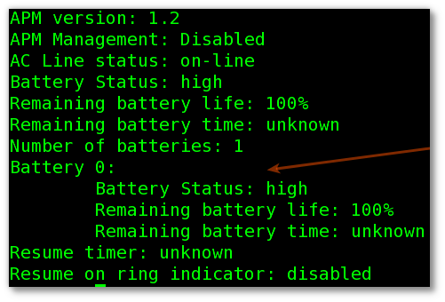 FreeBSD Laptop: Find Out Battery Life Status Command