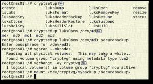 Fig.01: cryptsetup on RHEL based system