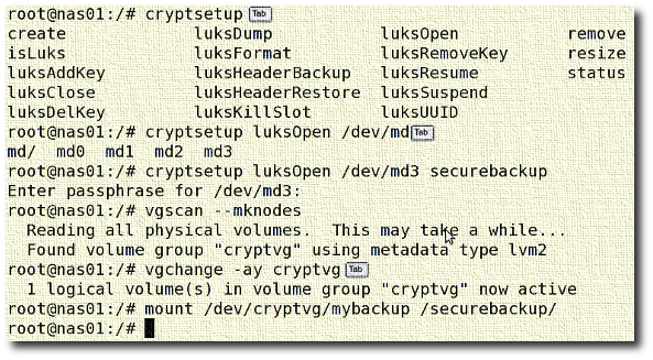 Fig.01: cryptsetup on RHEL based system