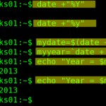 Linux / Unix Shell Script Get Current Year