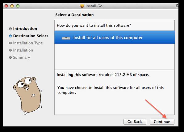 Mac OS X: Install Go Programming Language