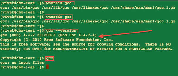 Howto compile and run a c c code in linux nixcraft Execute c code