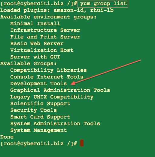 List installed packages with YUM - Electric Toolbox