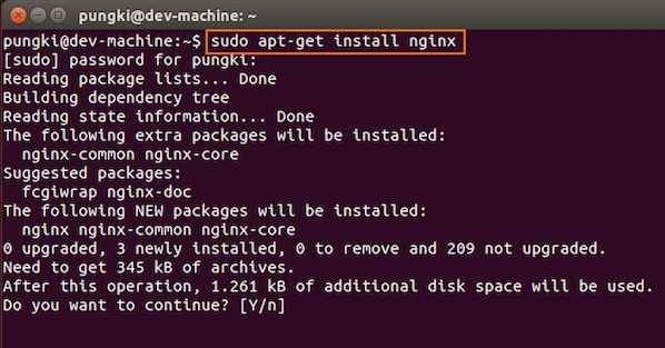 Fig.01: Download and Install Nginx on Ubuntu Linux