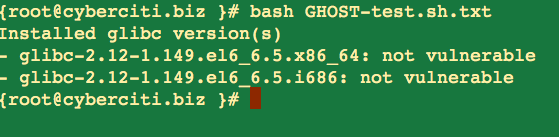 Fig.02: Fig.02: GHOST-test.sh output on a RHEL/CentOS  based system